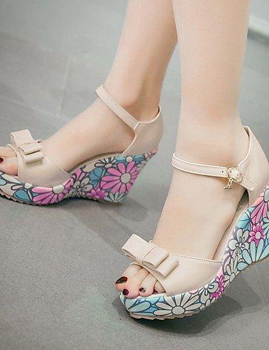 ShangYi Women's Shoes Heel Wedges / Heels / Peep Toe / Platform Sandals / Heels Athletic / Dress / Casual Blue...