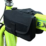 xhorizon® High-density Waterproof Military Cloth Bicycle Cycling Frame Pannier Front Tube Bag Double Side Bag ZY Tactical Camouflage Style