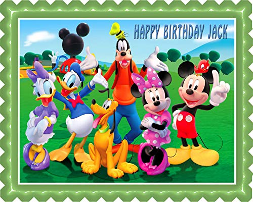 """Mickey Mouse Clubhouse (Nr3) - Edible Cake Topper - 10"""" x 16"""" (1/2 sheet) rectangular"""