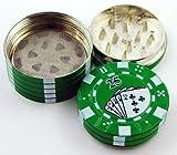 1pcs Pocket Portable Grinder, Metal Alloy 3 Layers Mini Poker Chip Style Grinder, Herb Tobacco...