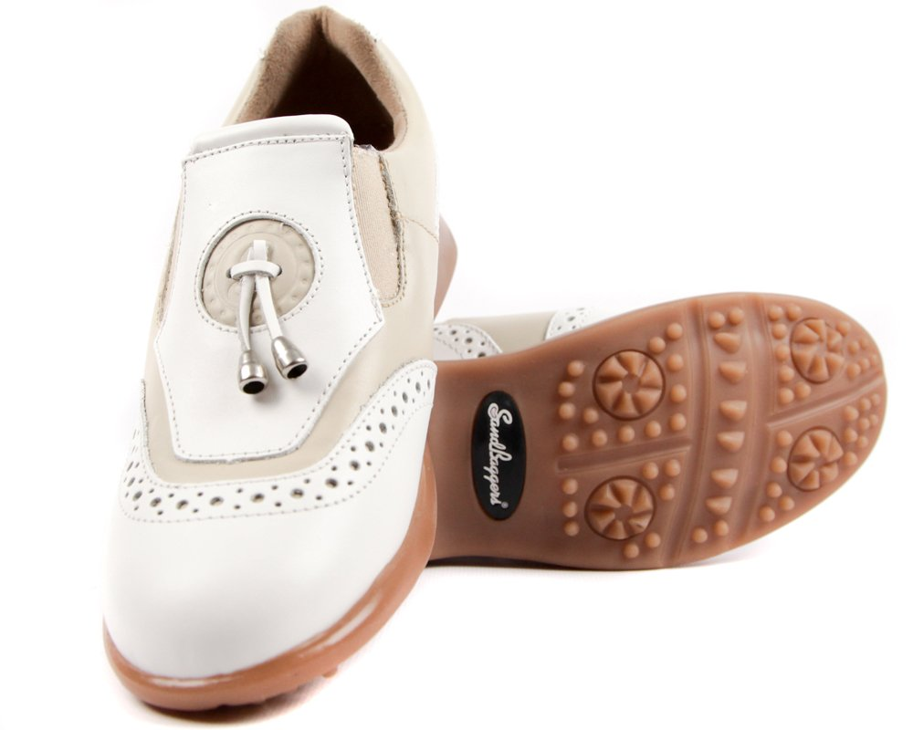 Sandbaggers Madison II Women's Golf Shoes (Almond, 8)