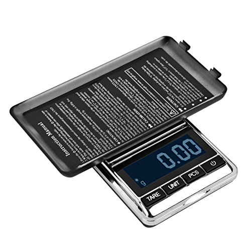 WAOAW 200 x 0.01g Reloading Digital Pocket Stainless Jewelry Scale Gram, 0.0001oz Resolution