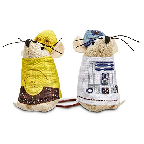 STAR WARS C-3PO & R2-D2 Mice Cat Toys, Pack of 2 toys