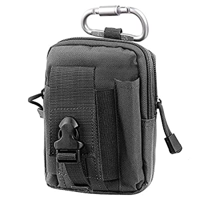 Compact Multipurpose Tactical Molle EDC Utility Gadget Pouch Tools Waist Bag with Cell Phone Holster Holder
