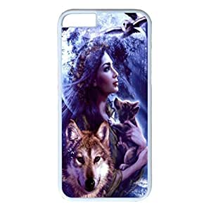 iPhone 6 Plus Case,Fashion Durable White Side DIY design for Apple iPhone 6 Plus(5.5 inch),PC material iPhone 6 Plus Cover ,Safeguard Phone from Damage ,Designed Specially Pattern with Moon and Indian Spirit Inspirational Wolf Art . by mcsharksby Maris's Diary