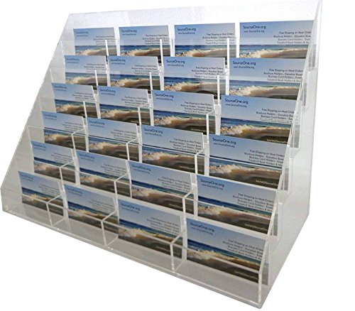 SourceOne Premium 24 Pocket counter top Business card holder Commercial