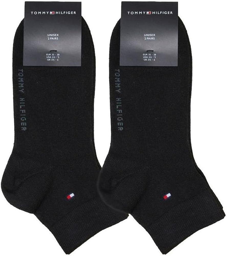Blanc 43-46//neuf avec étiquette Tommy Hilfiger 2 Paires Quarter Chaussettes Sneaker F