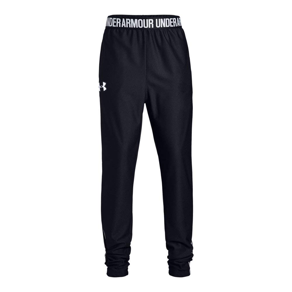 Under Armour Girls' Play Up Pant, Black//White, Youth X-Small