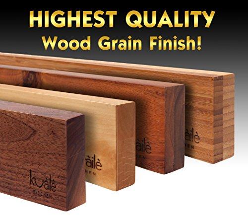 Heavy Duty Knife Holder - Magnetic Knife Bar - Knife Storage Strip 18'' (Bamboo Wood, 16 Inch) by Kuaile Kitchen (Image #2)