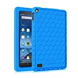 "Fintie Silicone Case for Fire 7 2015 - [Honey Comb Series] Light Weight [Anti Slip] Shock Proof Protective Cover [Kids Friendly] for Amazon Fire 7 Tablet (Fire 7"" Display 5th Generation), Blue Book Reviews"