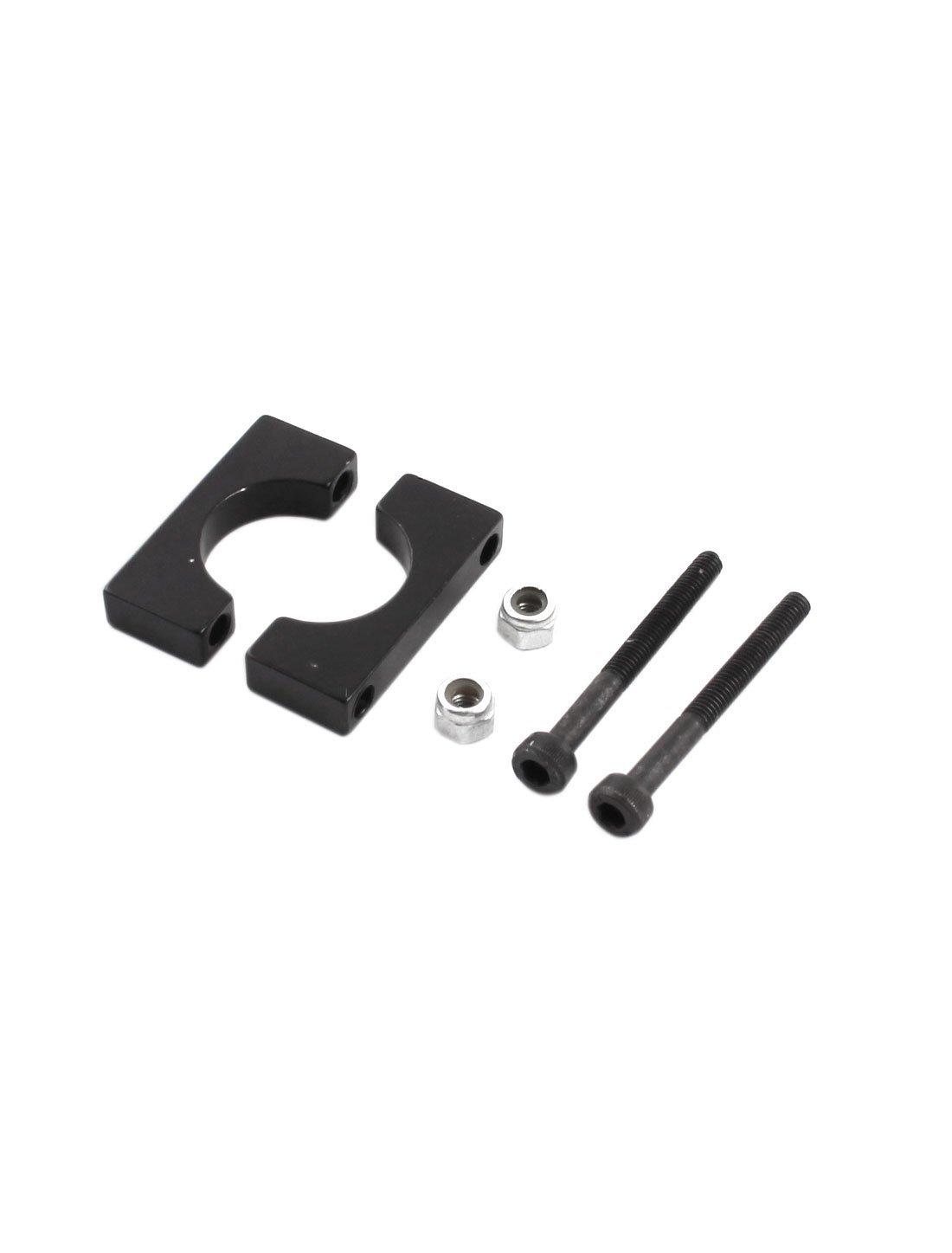 DealMux 10Pcs 16mm Aluminum Clamp Clip for Carbon Fiber Tube RC Multirotor