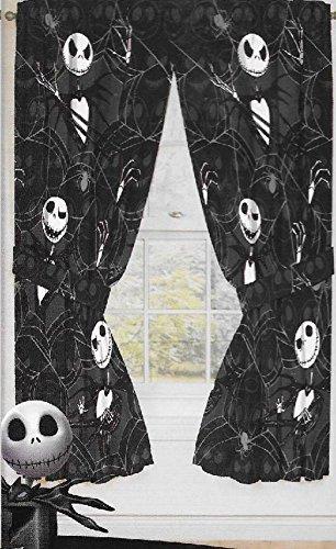 Original Nightmare Before Christmas Curtains/drapes 4 Pieces Set Window Panels Disney