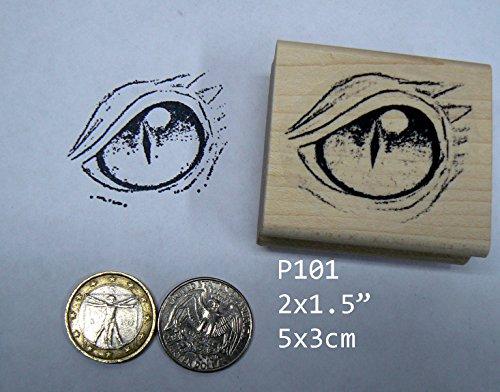 P101 Dragon's Eye Rubber Stamp Large