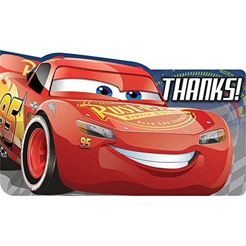 Disney Cars 3 Thank You Notes (8ct)