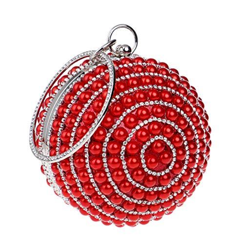 Sac Bandouliere Pochette Bal Chaîne pour Fête Mariage Soirée Red Main Sac Bourse Maquillage à Clutch Femme BawTqfPw