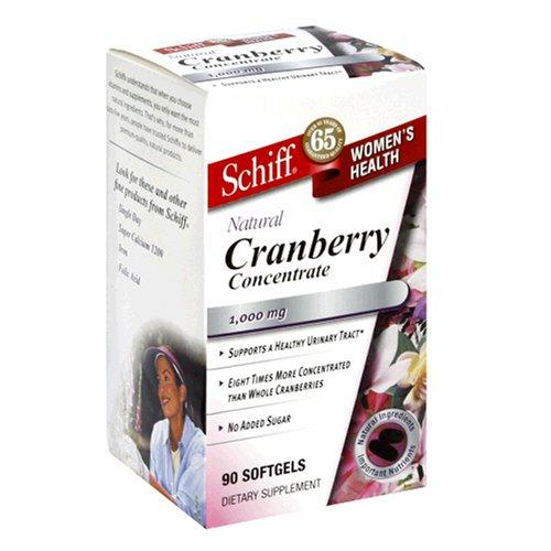 Schiff Femmes Extrait de santé aux canneberges, 500 mg, 90-Capsules (pack de 2)
