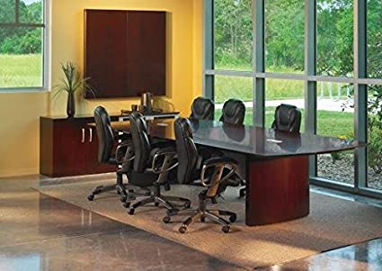 Amazoncom Napoli Curved End Conference Table Finish Mahogany - Napoli conference table