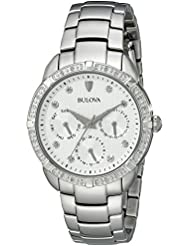 Bulova Womens 96R195 Multi-Function Dial Stainless Steel  Watch