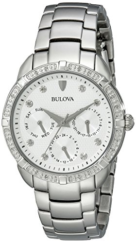 Bulova Women's 96R195 Multi-Function Dial Stainless Steel  - Bulova Stainless Watch Steel Multifunction
