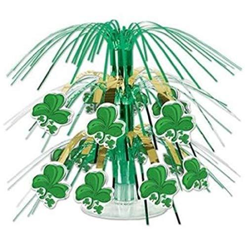 (hersrfv home St Patrick's Day Shamrock Mini Cascade Centerpiece)