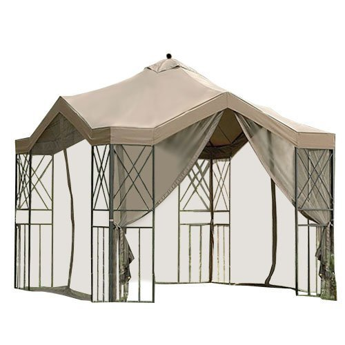 - Garden Winds Replacement Canopy for Deluxe Pagoda Gazebo, RipLock 350
