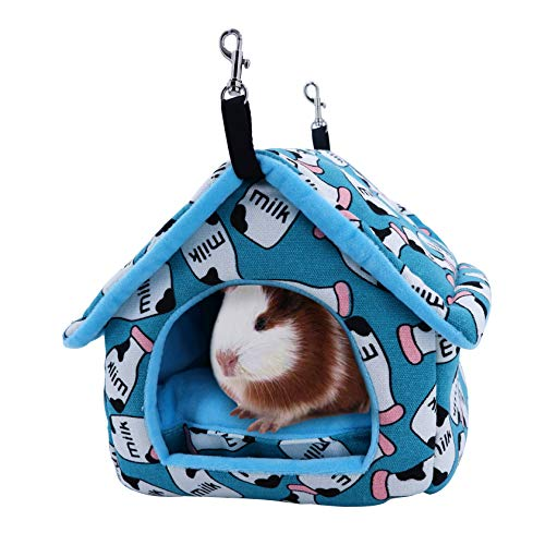 JanYoo Guinea Pig Bed Hedgehog Hammock Toy Pouch House Cage Accessories for Hamster Small Animal
