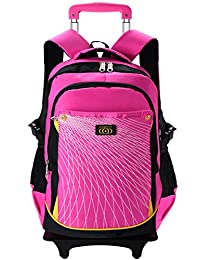 Rolling Backpacks,Coofit School Roller Backpack with 6 Wheels Rolling Backpacks for Girls Boys