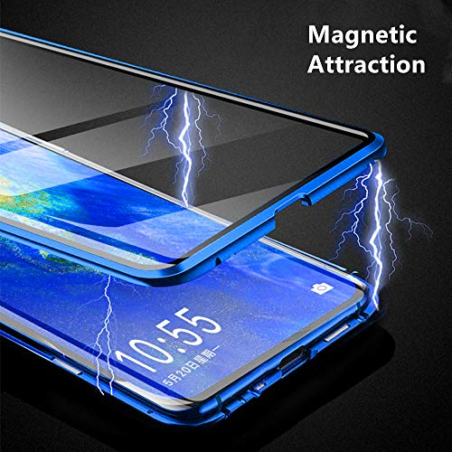 Compatible with Xiaomi Poco F2 Pro/Redmi K30 Pro Case, Jonwelsy 360 Degree Front and Back Transparent Tempered Glass Cover, Strong Magnetic Adsorption Technology Metal Bumper for K30 Pro (Green)