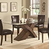 Amazoncom Glass Table Chair Sets Kitchen Dining Room