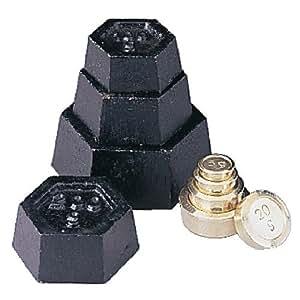 WIN-WARE Juego de pesas métricas para balanzas, calibración o escalas mecánicas digitales. Consta de: 500 g, 2 x 200g, 100g en hierro, y 50 g, 2 x 20 g, 10 g, 5 g de latón. Ideal para su uso con las escalas de cocina.