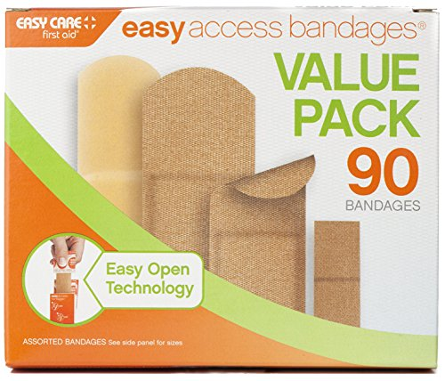 Easy Care Easy Access Bandages, Value Pack, 90 Count
