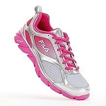 FILA Women's Memory Stride Pink Ribbon Running Shoes, Gray/Pink, Size 7.5