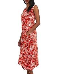Kaktus Women's Maxi Length Resort Swim Cover Up Tank Dress - Plus Sizes Available