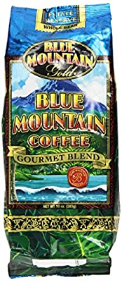 Blue Mountain Hawaiian Gold Kona Coffee Whole Bean 10 Oz