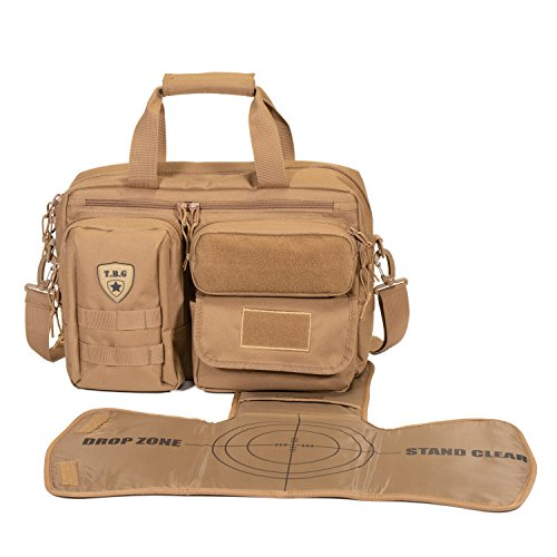 - Tactical Baby Gear Deuce 2.0 Tactical Diaper Bag with Changing Mat (Coyote Brown)