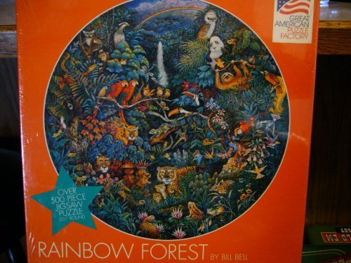 OVER 500 PIECE PUZZLE Great American Puzzle Factory RAINBOW FOREST By Bill Bell