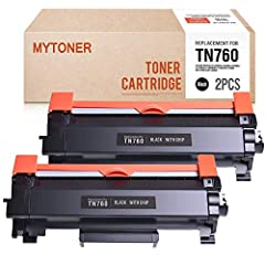 2 pack BLACK compatible brother tn760 tn730 high yield toner cartridges.  Please check the list below to ensure that these are the correct cartridges for you:Brother HL Series Printers:  HL-L2350DW HL-L2370DW HL-L2370DWXL HL-L2390DW HL-L2395D...
