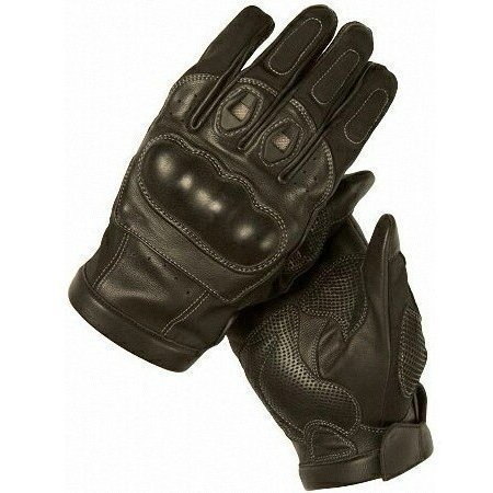 First Manufacturing Leather Racing Gloves (schwarz, Medium) by First Manufacturing