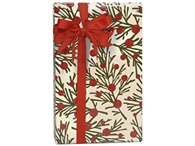 "Woodland Plaid Tree Branches Gift Wrapping Roll 24"" x 15' - Holiday Gift Wrap Paper"