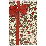 """Woodland Plaid Tree Branches Gift Wrapping Roll 24"""" x 15' - Holiday Gift Wrap Paper"""