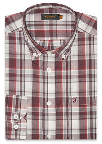 Farah Herren Freizeit-Hemd rot Ox Blood Einheitsgröße