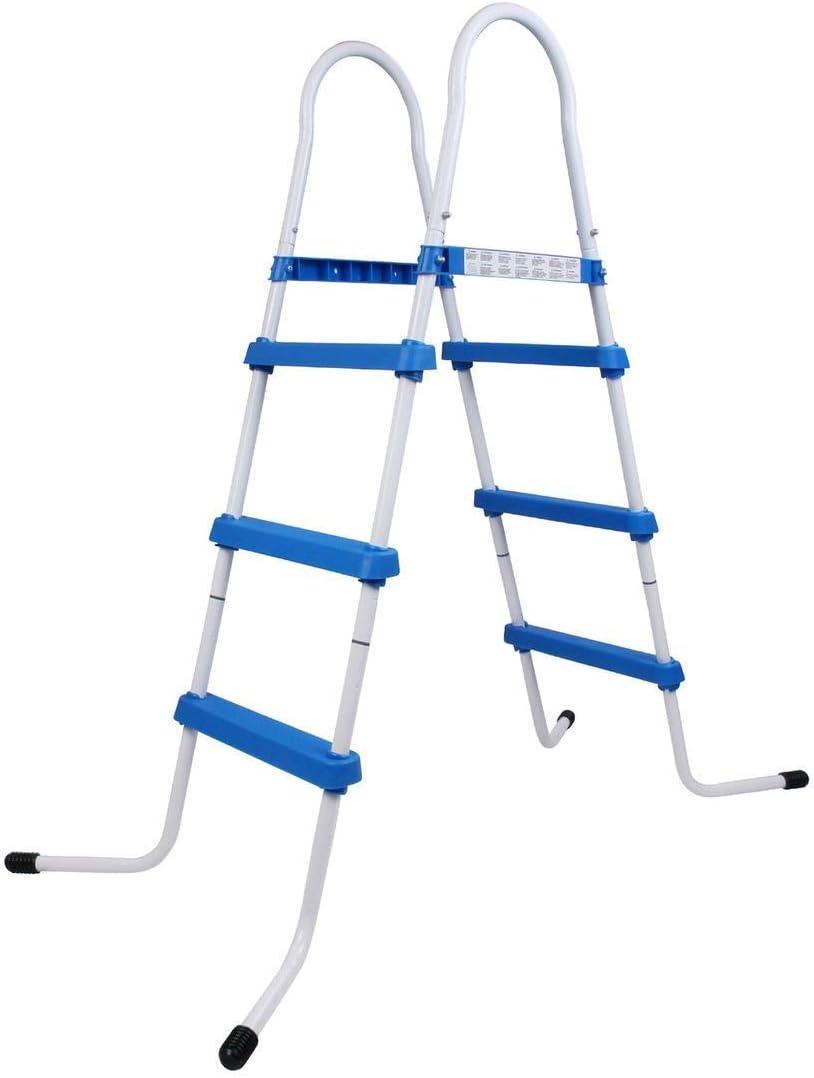 Blueborn PL90 - Escalera para Piscina, Escalera para Entrada a Piscina elevada, hasta 90 cm de Altura de Pared: Amazon.es: Jardín