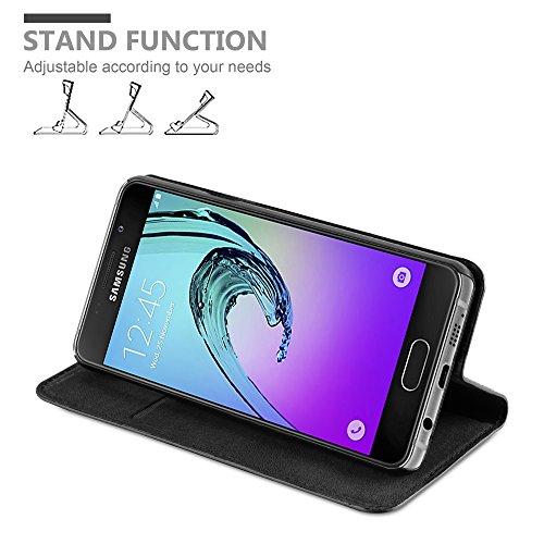Cadorabo - Funda Book Style Cuero Sintético en Diseño Libro Samsung Galaxy A3 (6) (Modelo 2016)