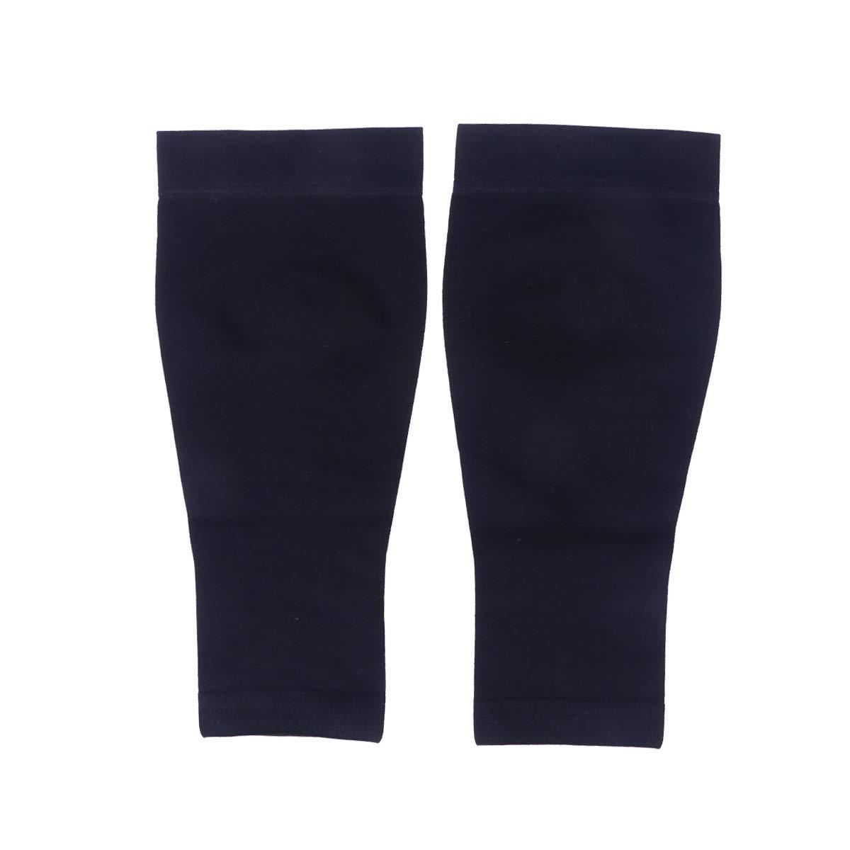 HEALIFTY Chaussettes de compression médicales 30-40mmhg à bout ouvert Compression Sleeve L (Noir)