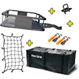 Mockins Steel Cargo Basket | 60' L X 20' W X 6' H Hitch Mount Cargo Carrier with Cargo Bag and Net | with a Hauling…