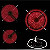 Teka TB6310 Integrado Cerámico Negro - Placa (Integrado, Cerámico, Vidrio, Negro, 14,5 cm, 18 cm)