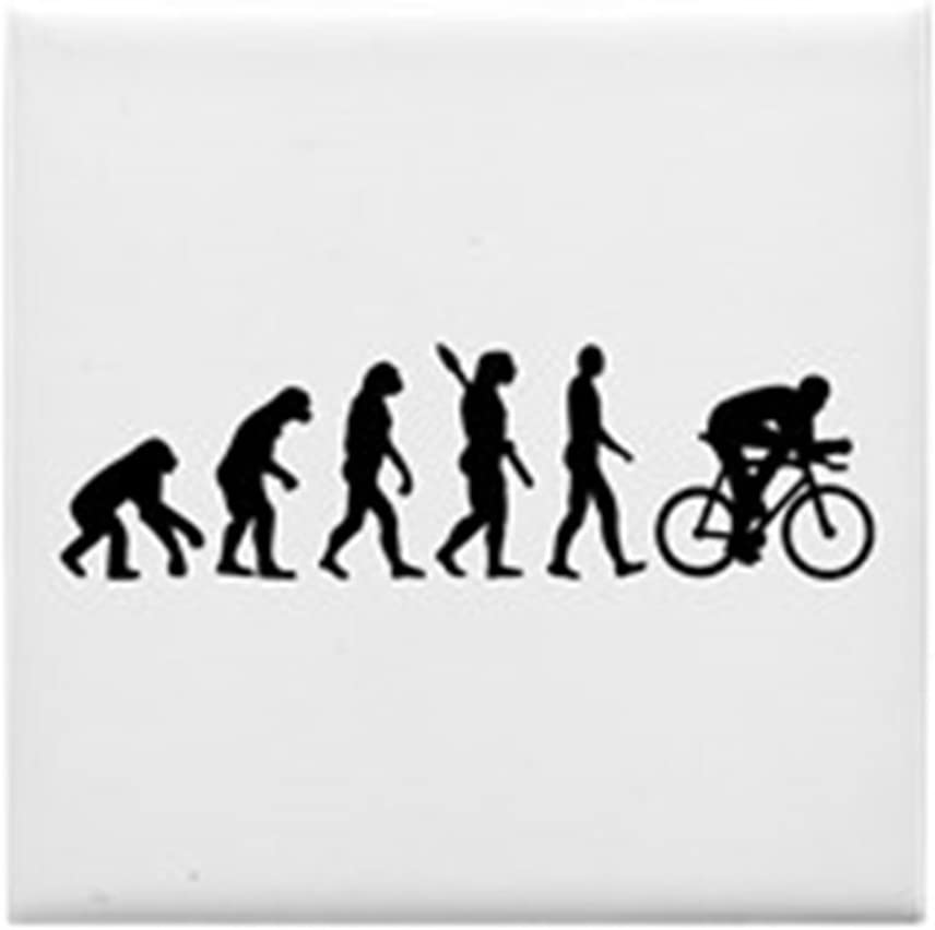 Compra CafePress – Evolución ciclismo bicicleta – Para azulejos posavasos, posavasos de bebida, pequeño salvamanteles en Amazon.es