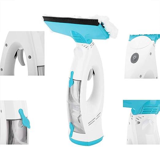 SHELLTB Aspirador de Ventanas Máquina de Limpieza de Ventanas eléctrica de Mano Recargable Sin Rayas Juego de Herramientas de Limpieza para Espejo de Vidrio,1pcs: Amazon.es: Hogar