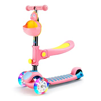 Scooter Patinete Freestyle Kick, Pedal Ancho de 3 Ruedas con ...