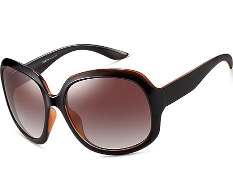 ATTCL Damen polarisiert Sonnenbrille 100% UV400 Schutz 3113-schwarz 7Q7zBT